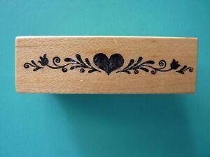 Flourish Heart Border C-666 PSX Rubber Stamp