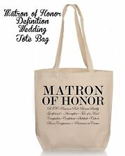 Personalized Wedding Gift Tote- Bridesmaid Matron Maid of Honor Wedding Favor