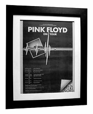 PINK FLOYD+Dark Side Moon+TOUR+ORIGINAL 1974 POSTER AD+FRAMED+FAST GLOBAL SHIP