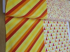 Benartex - Under The Big Top Stripes + Triangles + Dots + Star - Yellow / Orange