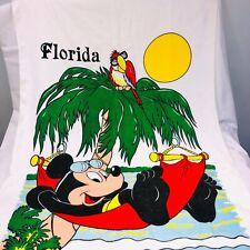 Walt Disney Mickey Mouse Florida Sherry White Beach Towel Red Hammock Beach New