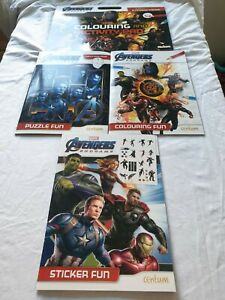 MARVEL AVENGERS ENDGAME STICKERS/COLOURING/PUZZLE/ACTIVITY PAD STARTING AT 2.95