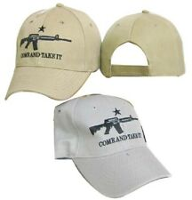 2nd Amendment Come & Take It White M4 Gun Rights Embroidered Cap Hat 974A