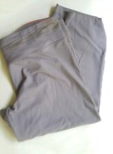 Victoria Secret VSX Sport Cropped Yoga Pants Relaxed Fit Grey Large