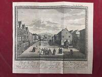 SPA 1784 Belgique Marché de Spa Fontaine du Pouhon Rare Gravure Ancienne