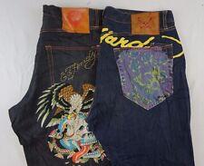 Ed Hardy Lot of 2 Men's Black Dark Wash Straight Leg/Shorts Jeans 40 x 31 O14113