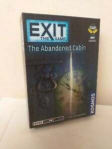 UNUSUAL GAME..EXIT THE GAME...THE ABANDONED CABIN...KOSMOS..AGES 12 AND OVER