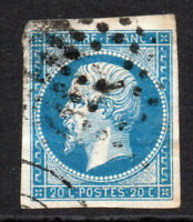 France 20 Cent Stamp c1853-61 Used (3876)
