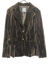 Marc Aurel Ladies Crushed Velvet Jacket Blazer Size 38 Retro Style