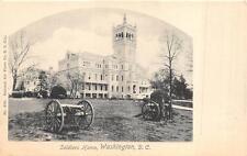 SOLDIERS HOME WASHINGTON D.C. MILITARY CANON POSTCARD (c. 1905)