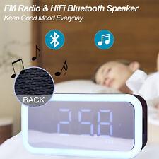 LED Alarmwecker Digital Wecker Beleuchtet Funkwecker Radio Player Thermometer