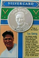 Lou Gehrig 1992 The Money Co Card MLB Ltd.1oz .999 Silver Coin Iron Horse SEALED