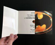 Batman (1989) Movie World Premiere Screening Invitation, RARE Gatefold Invite