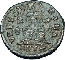 VALENTINIAN II 378AD Antioch Authentic Ancient Roman Coin VRBS ROMA i65903