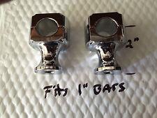 """harley Chopper bobber custom 2"""" CHROME RISERS 1/2-20 threads"""
