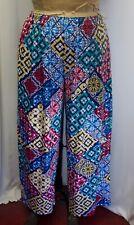Coco & Juan Lagenlook Plus Size Blue Red Knit Wide Leg Pant Size 1 Fits 1X2X