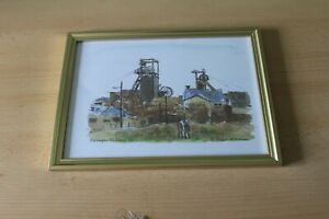 EASINGTON COLLIERY in 1992 - MINERS WALKING HOME- NATIONAL COAL BOARD - FRAMED