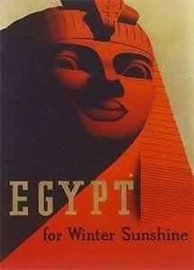 EGYPT - VINTAGE TRAVEL ART POSTER - 24x36 - 36097