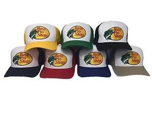 Bass Pro Shops Hat Embroidered  Logo Mesh Fishing Hunting Trucker Cap Snapback