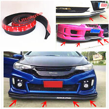 Black Rubber Bumper Guard Protector Flex Edge STRIP CHIN Side Skirts Spoiler Lip