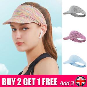 Womens VISOR CAP Tennis Running Baseball GOLF Sports Summer Sun Hat Vizor US