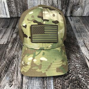 Condor American Flag Camo Tactical Cap Operator Contractor Hat Adjustable Strap