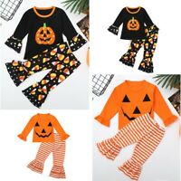 Toddler Baby Girls Outfit Fall Clothes Long Sleeve T-Shirt Tops + Pants Set 2PCS