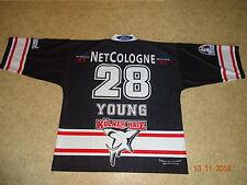 Kölner Haie KEC Russell Athletic Eishockey Trikot 1999/00 + Nr.28 Young Gr.XXL
