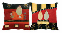 """Leaves-2PC Combo Printed Cushion Cover Sofa Home Décor Pillow Case 12"""",24"""""""
