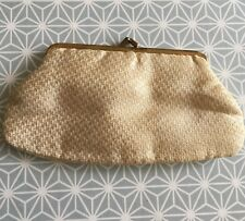 Vintage Purse Evening Pale Gold Metallic 1950s