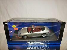 AUTOART 77855 PORSCHE 911 CABRIOLET - SILVER 1:18 - BOXED + TRANSPORT STRAPS CAR