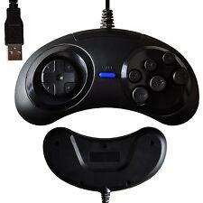 USB 6 Button Wired Sega Genesis / Mega Drive Controller GamePad for PC Windows