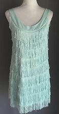 NWOT 1920's inspired H & M Mint Green Fringed Flapper Dress Size M (12/14)