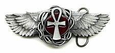 Osirian Cross & Wings Belt Buckle Heavy Gothic Authentic Pagan Buckles Product