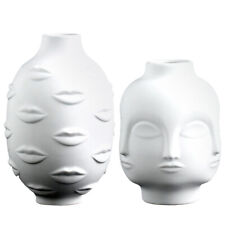 Modern Human Planter Succulent Vase Ceramic Plant Flower Pot Decor White