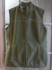 Life is Good Olive Green Fleece Full Zip Up Vest Women M *Mint*