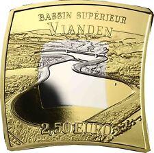 Luxemburg 2018 Wasserkraftwerk Vianden 2,5 Euro 925er Silber