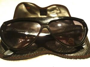 Laura Biagiotti Retro Vintage 1980's Over Sized Sunglasses w/Case Made In Italy