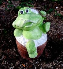 """Latex frog mold plaster concrete casting toad mould 6""""H x 5""""W"""