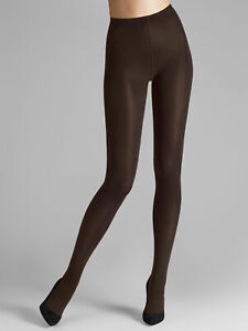 Wolford NWT 4250 Mocca Brown Mat Opaque 80 Tights Size S