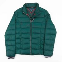 Vintage TOMMY HILFIGER Green Down Quilted Puffer jacket Size Women's XS