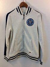NWT Women's Fanatics New York City Football Club Gray Full Zip Sweater Sz Small