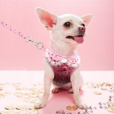 Extra Small Dog Harness W/ Leash Set Kitty Cat Puppy Soft Vest Dress Mesh Lace