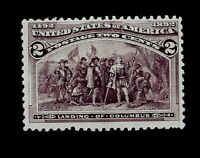 US 1893  Sc# 231 - 2 c Columbian - Mint NH -  V/VF - Vivid Color -