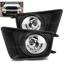 Linen-king FL7117- 2012-15 Toyota Tacoma Chrome Black Bezel Fog Lights  Kit