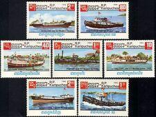 CAMBODGE Kampuchea N°583/589** Bateaux 1985, CAMBODIA Ships Boats SC#620-626 MNH