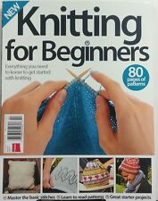 Knitting For Beginners UK Issue 5 80 Pages Of Patterns Projects FREE SHIPPING sb