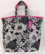 Liberty of London Target Black White Floral Linen Cotton Tote Bag New