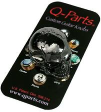 Q-Parts JUMBO SKULL Custom Guitar Knob BLACK CHROME KBJSI0403