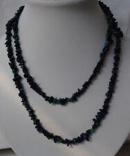 Splitterkette Lapis Lazuli und Malachit, vielfältig tragbar, Länge 90cm